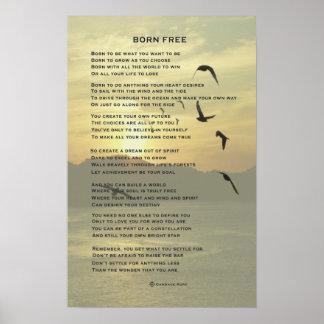 Geborenes freies poster