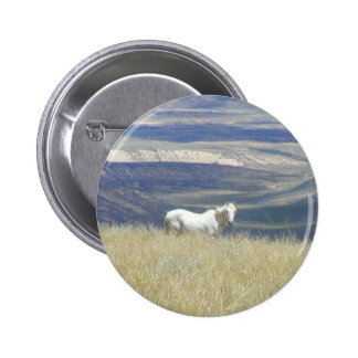 Geborenes freies wildes Mustang-Pferd Runder Button 5,1 Cm