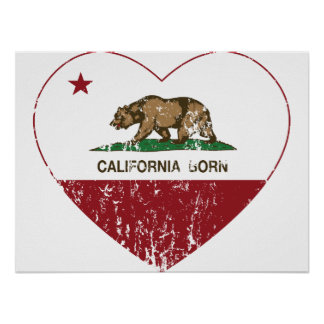 Geborenes Herz Kaliforniens beunruhigt Poster