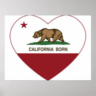 Geborenes Herz Kaliforniens Poster