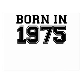 GEBORENES IM JAHRE 1975 .PNG POSTKARTE