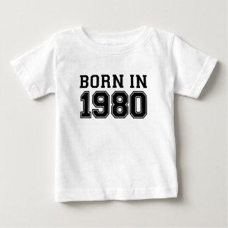 GEBORENES IM JAHRE 1980 .PNG BABY T-SHIRT