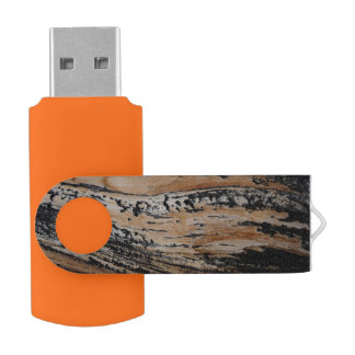 Gebrannte Baumrinde-Beschaffenheit USB Stick