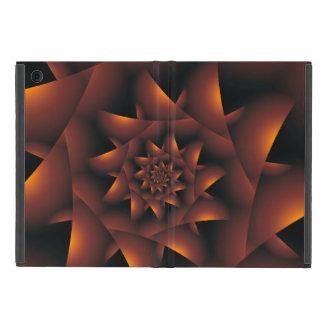 Gebrannter orange dunkles gewundenes Fraktal iPad Schutzhülle Fürs iPad Mini