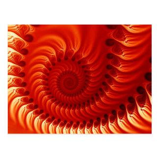 Gebranntes orange Fraktal Postkarte