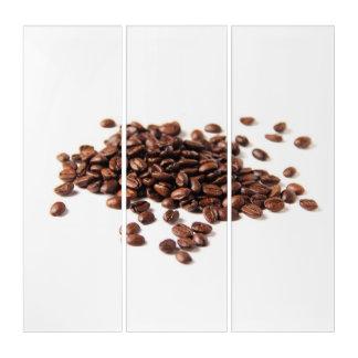 Gebratene Kaffeebohnen Triptychon