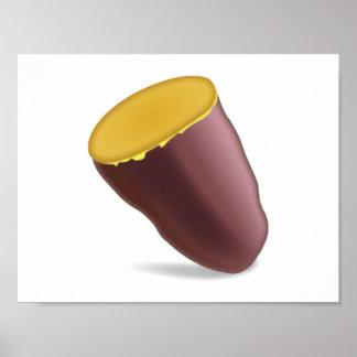 Gebratene Süßkartoffel - Emoji Poster