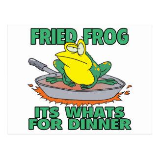 gebratener sein Frosch, was für Abendessen ist Postkarte