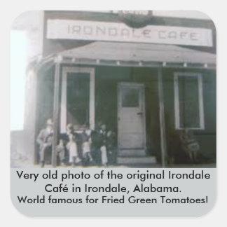 Gebratenes grüne Tomaten ursprüngliches Irondale Quadratischer Aufkleber