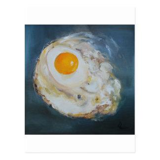 Gebratenes Sonnig-Seite-Oben Ei Postkarte