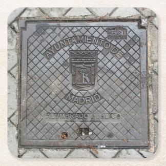 Gebrauchsabdeckung Madrids, Spanien - Untersetzer