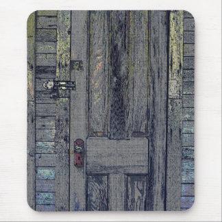 Gebrechliche hölzerne Halle-Tür Mousepad