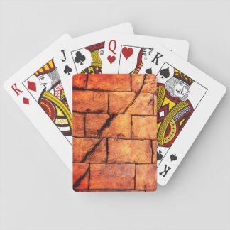 Gebrochene Backsteinmauer Spielkarten