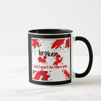 gebrochene Faser Logo-Tasse Tasse