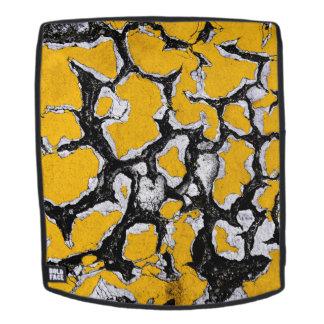 Gebrochene gelbe Straßen-Farbe Rucksack