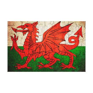 Gebrochene Waliser-Flagge Leinwanddruck