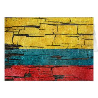 Gebrochener kolumbianischer karte
