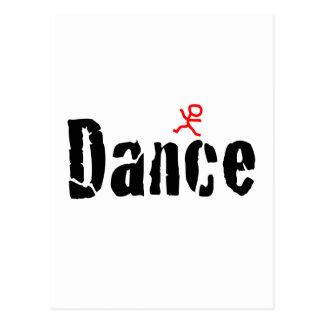Gebrochener Tanz-Entwurf Postkarte