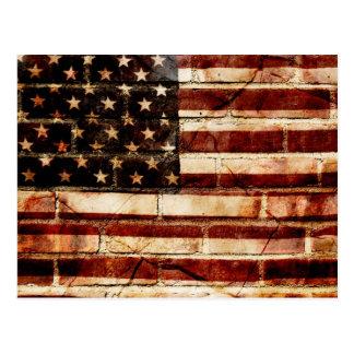 Gebrochenes Amerika Postkarte