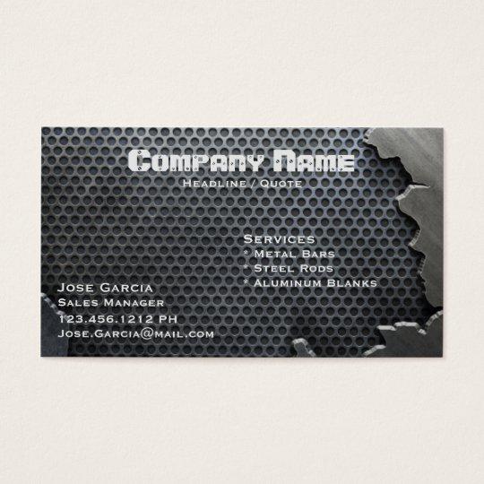 Gebrochenes metall visitenkarte zazzle - Metall visitenkarten ...