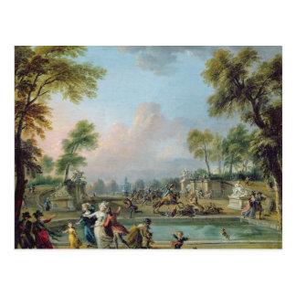 Gebühr von Prinzen von Lambesc in Tuileries Postkarte