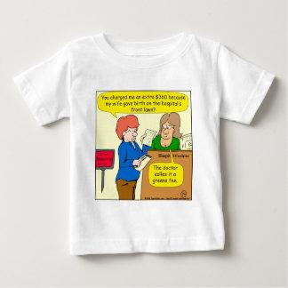 Gebührn-Cartoon mit 804 Grüntönen Baby T-shirt