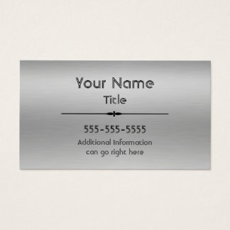 Gebürstete Aluminiumdruck-Visitenkarten Visitenkarte