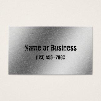 Gebürstete Aluminiumeffekt-Visitenkarte Visitenkarten