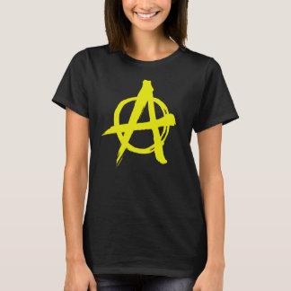 Gebürstete gelbe Anarchie T-Shirt