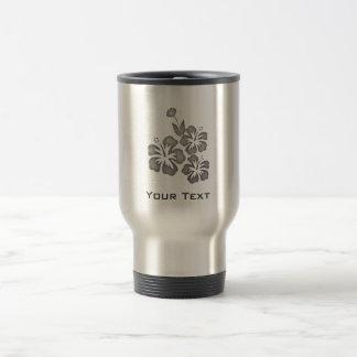 Gebürstete Metall-Blick tropische Blumen Kaffee Haferl
