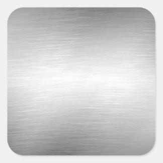 Gebürstete Metallblick-Aufkleber