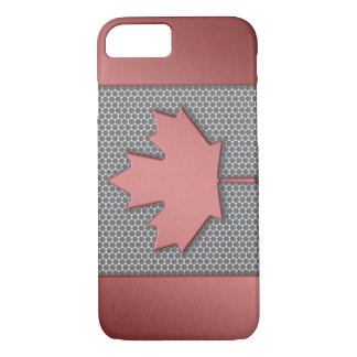 Gebürstete Metallblick-Kanadier-Flagge iPhone 8/7 Hülle