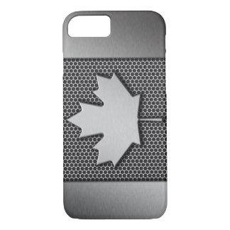 Gebürstete Metallkanadier-Flagge iPhone 8/7 Hülle