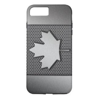 Gebürstete Metallkanadier-Flagge iPhone 8 Plus/7 Plus Hülle
