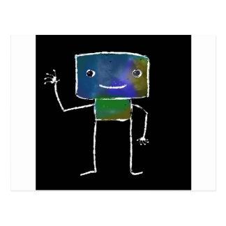 Gebürstete Roboter - Vol. 1: Lunabot Postkarte