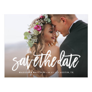 Gebürstete Save the Date Postkarte
