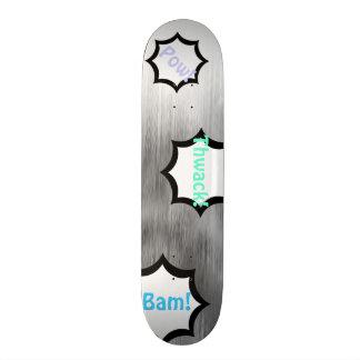 Gebürstete StahlComicen schauen das graue 21,6 Cm Skateboard Deck