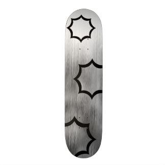 Gebürstete Stahlfunken schauen das graue 18,1 Cm Old School Skateboard Deck