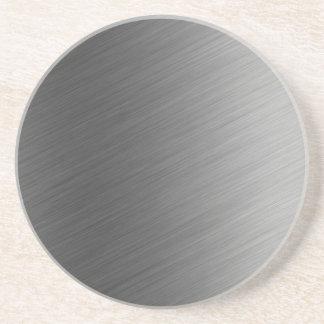 Gebürsteter Aluminiummetallblick Untersetzer