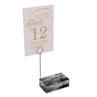 Gebürsteter Stahltabellen-Kartenhalter Platzkartenhalter
