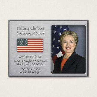 Gebürstetes Aluminium mit amerikanische Visitenkarte