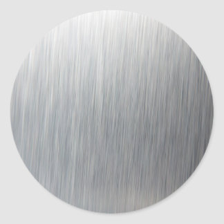 Gebürstetes Aluminiummetall Runder Aufkleber