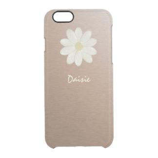 Gebürstetes Rosen-Goldsteigungs-Gänseblümchen Durchsichtige iPhone 6/6S Hülle