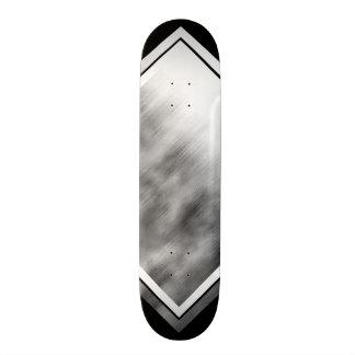 Gebürstetes Stahlgeschwindigkeits-Blick-graues 19,1 Cm Old School Skateboard Deck