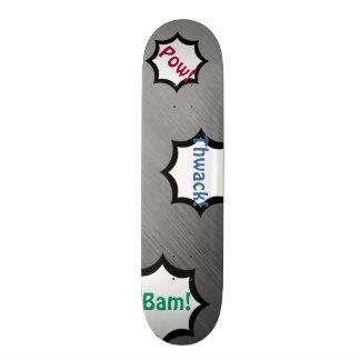 Gebürstetes Stahlgeschwindigkeits-Blick-graues 20,1 Cm Skateboard Deck
