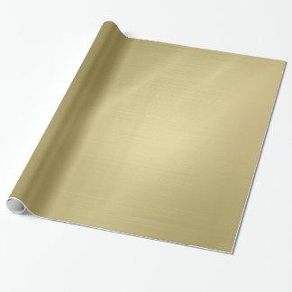 Gebürstetes tiefes Gold Geschenkpapier