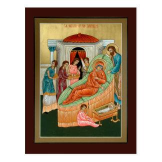 Geburt Christi der Theotokos Gebets-Karte Postkarte