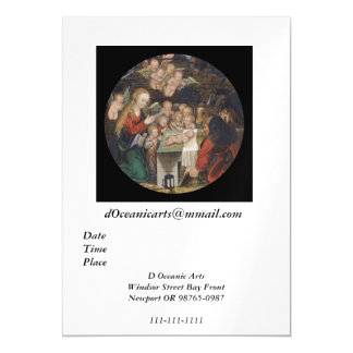 Geburt Christi, die Engel kennzeichnet Magnetische Karte