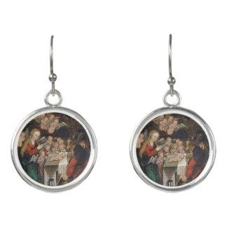 Geburt Christi, die Engel kennzeichnet Ohrringe