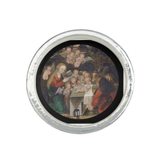 Geburt Christi, die Engel kennzeichnet Ringe